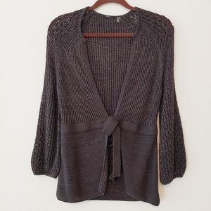 Tahari Open Weave Cardigan Sweater. Size M